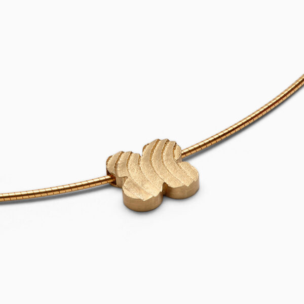 náhrdelník čtyřlístek žluté zlato